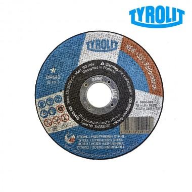 Disco de corte plano41c 115x1,6x22,23 a46q-bfb tyrolit
