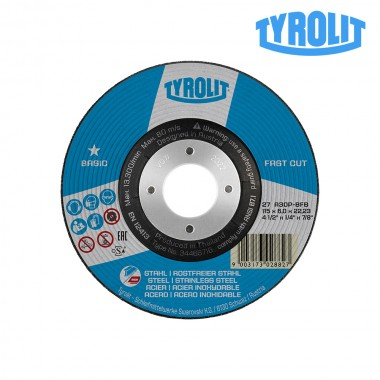 Disco de desbaste 27c 115x6x22,23 a30p-bfb. tyrolit