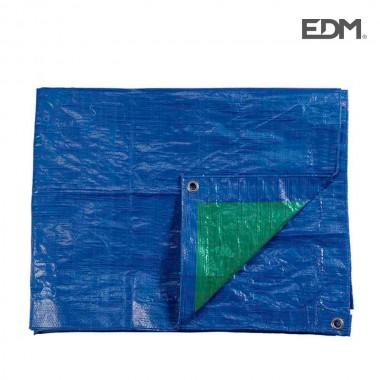 Toldo 4x6mts doble cara azul/verde ojales de metal densidad 90grs/m2  edm