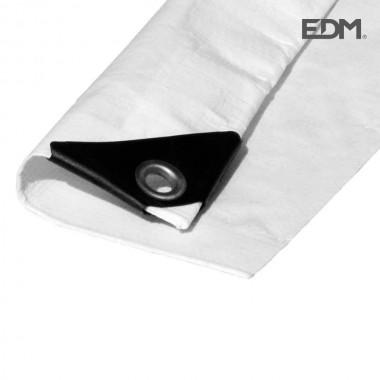 Toldo 4x5mts doble cara blanco ojales metal densidad 90grs/m2 edm