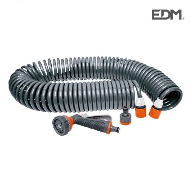 "Kit manguera espiral  ""riega facil"" 15mts edm"