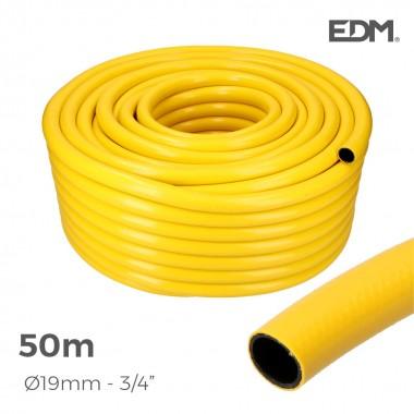 "Manguera agricola amarilla ø interior 19mm ø exterior 25mm (3/4"") rollo 50mts"