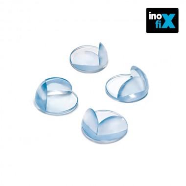 Protector cantos transparente (blister 4 unid) inofix