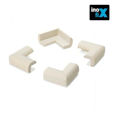 Protector cantos acolchado blanco (blister 4 unid) inofix