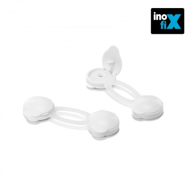 Cierre seguridad multiuso corto blanco (blister 2 unid) inofix