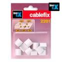 Enlaces recto para cablefix 2201 (blister 10 unid) inofix