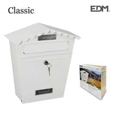 Buzon de acero modelo classic blanco