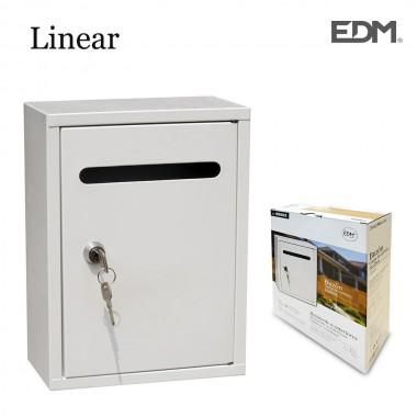Buzon de acero modelo linear blanco