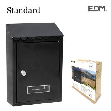 Buzon de acero modelo standard negro