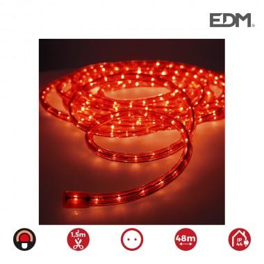 Tubo flexilux rojo  2 vias multifuncion (interior-exterior) edm.  euro/mts