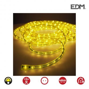 Tubo flexilux  amarillo  vias multifuncion (interior-exterior) edm.   euro/mts