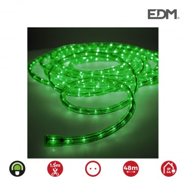 Tubo flexilux  verde 2 vias multifuncion (interior-exterior) edm   euro/mts