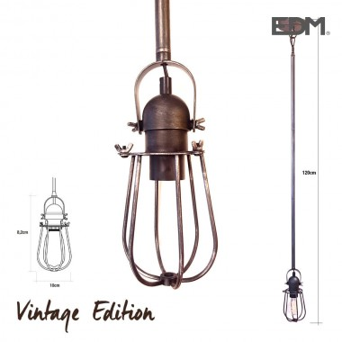 Colgante vintage  e27 60w - 8,2x10cm