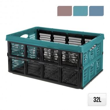 Caja multiusos plegable 32l. (colores surtidos) 50x21x33cm