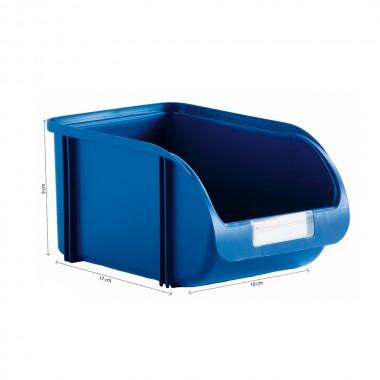 Contenedor 10cm titanium azul