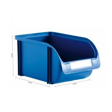 Contenedor 22cm titanium azul