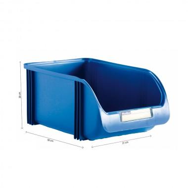 Contenedor 30cm titanium azul
