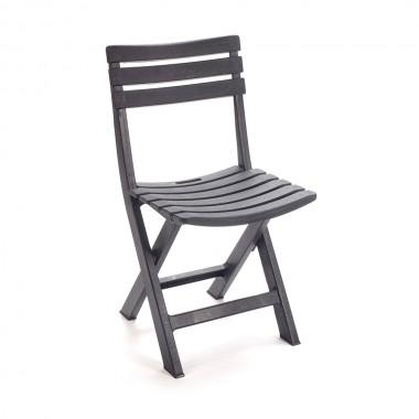 Silla plegable color negro 44x41x78cm ipae progarden