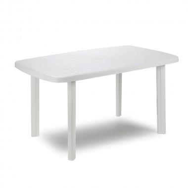 Mesa oval color blanco 137x85x72cm ipae progarden