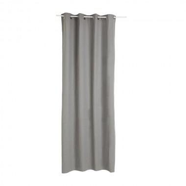 Cortina con ollaos color gris