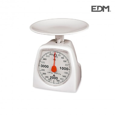 Bascula de cocina mecanica max. 4kg edm