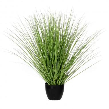 Hierba verde pvc con maceta 11,5x50cm