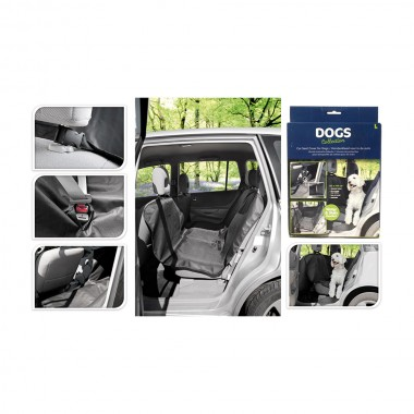 Protector asiento de coche 135x145 cm negro poliester