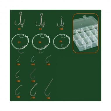 Set de anzuelos para pesca 111 piezas con accesorios