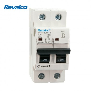 Magnetotermico revalco 1polo+ neutro 10a