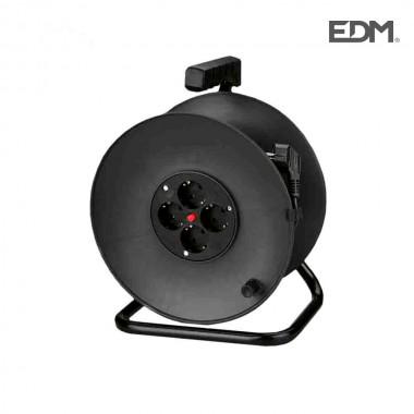 Enrollacables  con protector termico 3 x1,5mm  50m 4 tomas edm