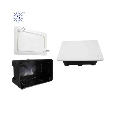 Caja rectangular 50x100mm garra metalica solera