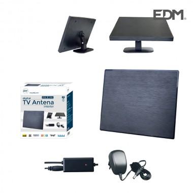 Antena uhf interior tv edm  470-862 mhz design series 188x155x13,5mm