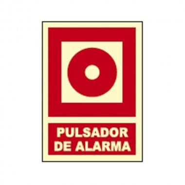 *ult.unidades* cartel señal pulsador de alarma fotoluminiscente homologado