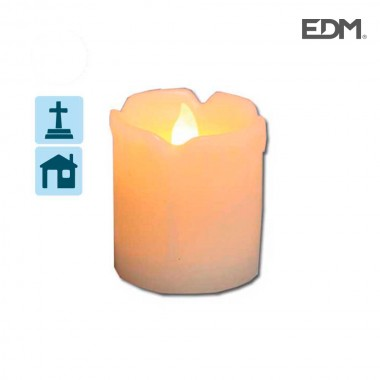 Vela luminosa con led (5,1x7,5cm)  edm