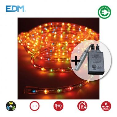 *ult. unidades* kit tubo flexilux 13mm multifuncion multicolor 9m+2m cable (interior-exterior) edm