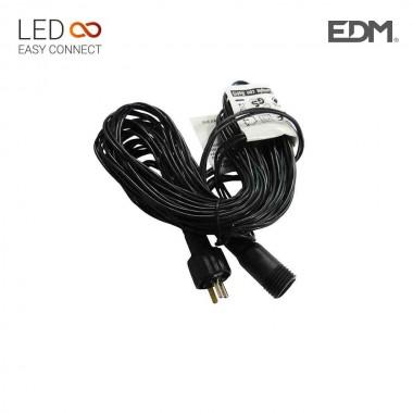 Prolongacion cable 5m para guirnalda o cortina easy-connect (interior-exterior) edm
