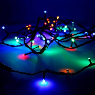 Guirnalda luminosa easy-connect 4mts 60 leds multicolor 30v (ip44 interior-exterior) edm total 1,08w