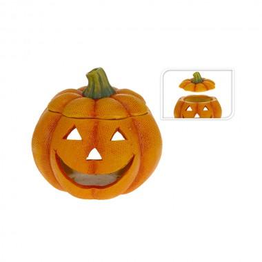 *ult.unidades*  portavelas calabaza halloween ceramico 14x14x13,5cm