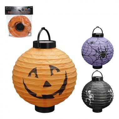 *ult. unidades* linterna led  de papel diseños halloween