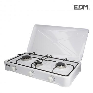 Cocina de gas - esmaltada - 3 fuegos - edm