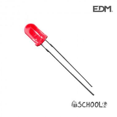 Diodo led rojo 5mm (manualidades) 1,9v