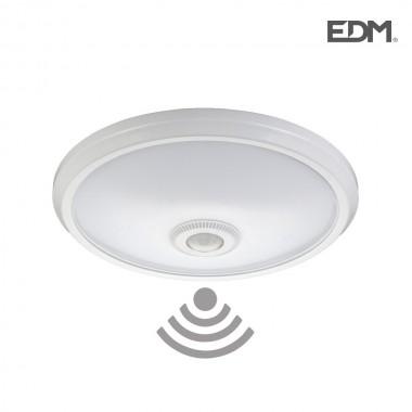 Aplique superficie con sensor ip20 2xe27 medidas: ø 30cm alto 9,6cm edm