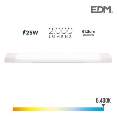 Regleta electronica led 25w 61cm 6.400k luz fria 2000 lumens edm