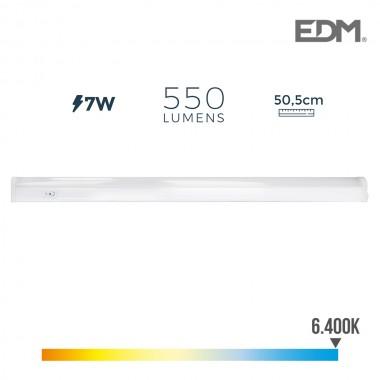 Regleta electronica led 7w 600 lumens 50.5cm 6.400k luz fria edm