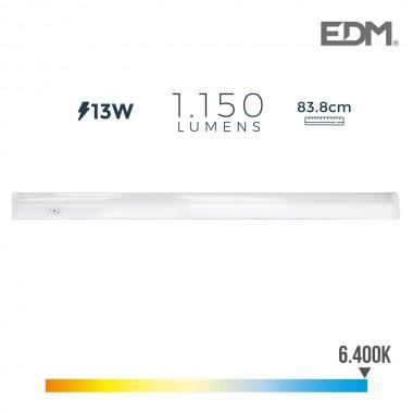 Regleta electronica led 13w 1150 lumens 86cm 6.400k luz fria edm