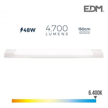Regleta electronica led 48w 150cm 6.400k luz fria 4700 lumens edm