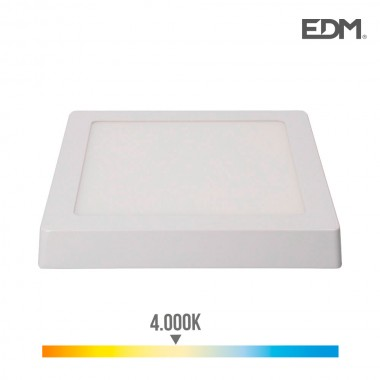 Downlight led superficie 20w 1500 lumens 4.000k luz dia blanco edm