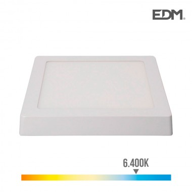 Downlight led superficie 20w 1500 lumens 6.400k luz fria blanco edm