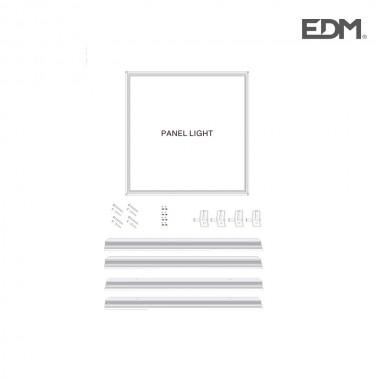 Marco cromo mate (superficie) para panel de led 60x60x4,2cm edm