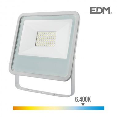 Foco proyector led 50w 3500 lm 6400k luz fria edm